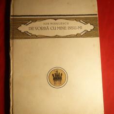 Ion Minulescu - De vorba cu mine insu-mi - Ed. Cultura Nationala 1924
