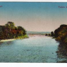 CALIMANESTI, VEDERE DE PE OLT - Carte Postala Oltenia dupa 1918, Necirculata, Printata