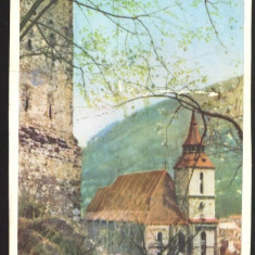 CARTE POSTALA*Orasul Stalin*BRASOV*Biserica Neagra - Carte Postala Transilvania dupa 1918, Circulata