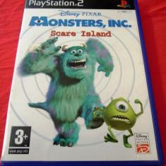 Joc Monsters Inc. Scare Island, PS2, original, alte sute de jocuri! - Jocuri PS2 Altele, Actiune, 3+, Single player