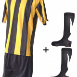 Echipament complet fotbal negru galben