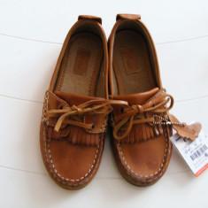 PANTOFI ZARA MAR 31 - Pantofi copii Zara, Culoare: Maro, Fete, Piele naturala