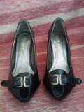 Pantofi de dama, eleganti, 37 1/3, Fuchsia, Cu toc