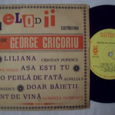Disc vinil ( vinyl, pick-up ) MELODII DE GEORGE GRIGORIU ( format mic EDC 826 ) (rock, twist) - Muzica Rock & Roll electrecord