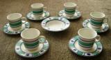 Set / serviciu ceai / cafea  - Italia - Quadri foglio - 6  persoane