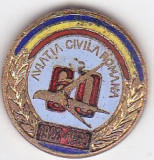 Insigna fara ac Aviatia Civila Romana