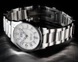 CEAS de LUX , SWISS MADE : HAAS et CIE ORIGINAL, plat : 9 mm , model silver , data , se vinde la pretul MINIM ! ! !