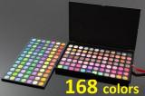 Trusa Make up Profesionala  168 Farduri Culori aprinse mate si sidefate