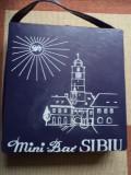 Geanta cutie mini bar sibiu pentru bauturi alcoolice anii 70 vechi vintage rar