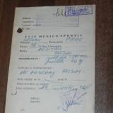 de colectie AVIZ MEDICO-SPORTIV PENTRU ARBITRU FOTBAL 1984
