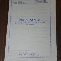 De colectie PROGRAMUL CONSFATURII ARBITRILOR DIVIZIONARI B SI C DE FOTBAL - Program meci