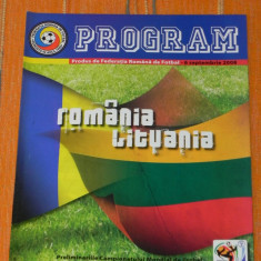 Program fotbal - ROMANIA - LITUANIA 6 SEPTEMBRIE 2008. - Program meci
