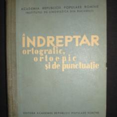 INDREPTAR ORTOGRAFIC, ORTOEPIC SI DE PUNCTUATIE {1959}