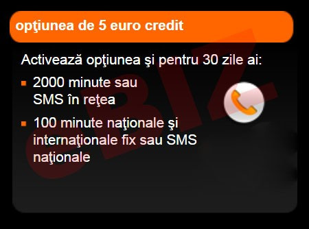 Credit Cartela Orange Prepay - Optiunea de 5 euro cu 2000 minute / SMS in retea + 100 minute / SMS nationale + BONUS 10 minute nationale foto mare