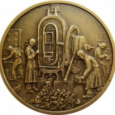 MEDALIE MONETARIA STATULUI BRONZ UNC - Medalii Romania
