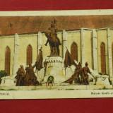 carte postala CLUJ - KOLOZSVAR statuia lui matei corvin