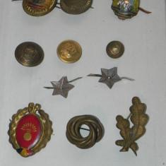 LOT INSIGNE, STEME, EMBLEME, INSEMNE MILITARE, STELE GRADE RSR - Insigna, Romania de la 1950