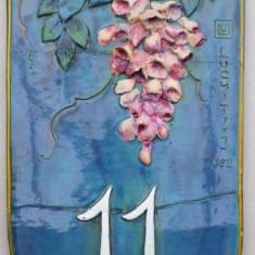Numar de casa, semnat Luchit - Arta Ceramica
