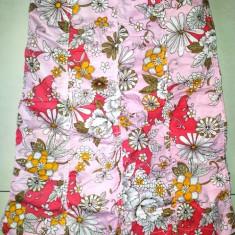 Fusta roz cu flori fete 7-9 ani, marimea S, de la Reference, bumbac, ca noua