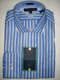 Camasa originala Tommy Hilfiger - barbati L -100% AUTENTIC, Maneca lunga, Albastru
