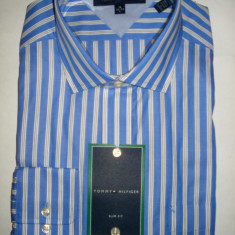 Camasa originala Tommy Hilfiger - barbati L -100% AUTENTIC - Camasa barbati Tommy Hilfiger, L, Maneca lunga, Albastru