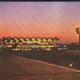 CARTE POSTALA*TAROM*Aeroportul International Bucuresti-Otopeni noaptea, Necirculata, Printata
