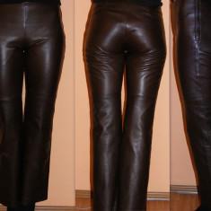 COSTUM DIN PIELE MARO!!! PRET USOR NEGOCIABIL! - Costum dama, Marime: 34, Costum cu pantaloni