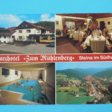"GERMANIA - BAD SACHSA/STEINA HOTEL,, ZUM MUHLENBERG"", Europa, Necirculata, Fotografie"