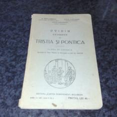 Popa Lisseanu / I. Valaori / C. Papacostea - Ovidiu, Excerpte din Tristia si Pontica - clasa 6-a liceala - 1929 - Carte veche