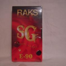 Vand caseta video Raks E-90,sigilata, fabricata in Germania