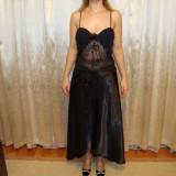 Rochie eleganta de ocazie, lunga., Negru, Maxi
