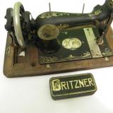 Masina cusut pentru colectie,  anul 1900 Gritzner Durlach -117 ani