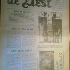 ziarul gazeta de vest  28 aprilie 1990