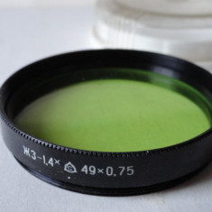Filtru verde JE 1, 4 filet m49 Made USSR - Lentile conversie foto-video