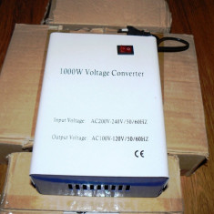 Convertor tensiune 220V-110V 1000W (Transformator toroidal)