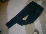 Jeans dama negri Gianni Versace model A64412, 27, Lungi, Negru