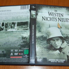 DVD ORIGINAL - ALL QUIET ON THE WESTERN FRONT 1930 - 2 PREMII OSCAR - Film drama Altele, Engleza