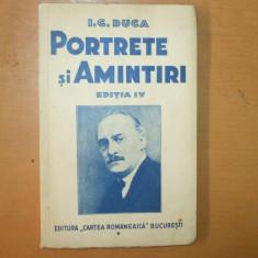 I. G. Duca Portrete si amintiri 1935 - Carte Editie princeps
