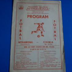 Program meci fotbal Nitramonia Fagaras - Chimia Rm.Valcea 20.08.1987