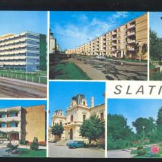 CARTE POSTALA*SLATINA*mozaic 1973 - Carte Postala Muntenia dupa 1918, Circulata