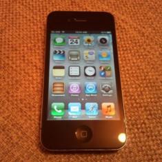 Vand Iphone 4 negru de 32 gb codat p orange arata impecabil, 32GB, Apple