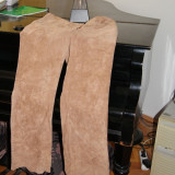 Pantalon dama piele intoarsa model interesant