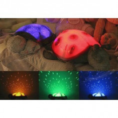 Proiector de stele si luna mamaruta Ladybug pentru camera copii