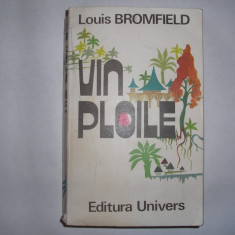 Vin Ploile -Roman al Indiei Moderne - Louis Bromfield,r31,R1