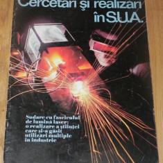 De colectie - REVISTA PROPAGANDA - CERCETARI SI REALIZARI IN SUA. aparuta cu ocazia vizitei lui Nicolae Ceausescu in SUA