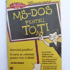 MS-DOS pentru toti - Carte sisteme operare