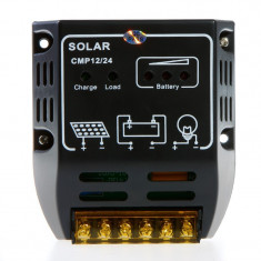 Regulator solar. Controller solar. Regulator de incarcare panouri solare  fotovoltaice 12/24 V - 10A