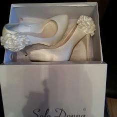Pantofi mireasa Benvenuti - Pantof dama, Culoare: Alb, Marime: 38, Alb