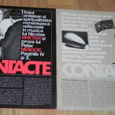De colectie - 2 REVISTE PROPAGANDA - CONTACTE. publicatie aparuta dupa vizita lui Nicolae Ceausescu in SUA