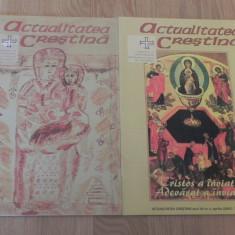 LOT 2 REVISTE ACTUALITATEA CRESTINA - PERIODIC AL ARHIEPISCOPIEI ROMANO-CATOLICE DE BUCURESTI, NR 1, 4 / 2001